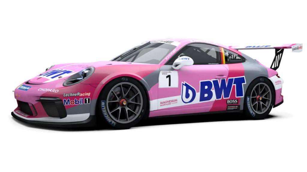 The 2019 Porsche Carrera Cup Deutschland 911 GT3 Cup Car