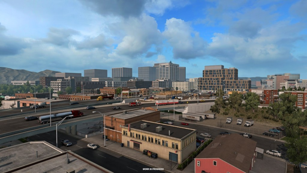 Boise is one of the cities to arrive with the Idaho DLC for American Truck Simulator