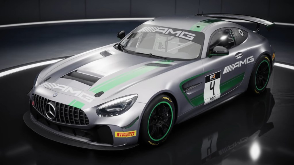 The instantly recognisable Mercedes AMG GT4