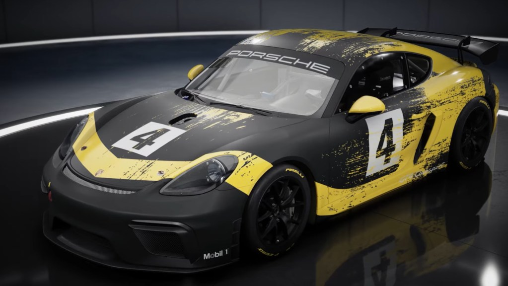 The Assetto Corsa Competizione GT4 pack Porsche 718 Cayman GT4 CS MR