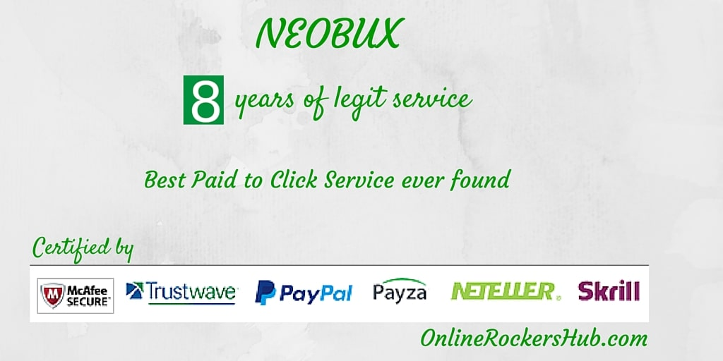 Make money online with Neobux