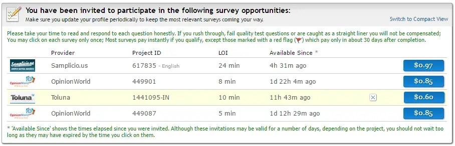 Clixsense surveys