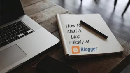 Create a free blog at blogger