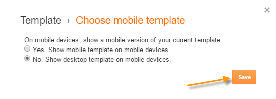 Disable blogger mobile template
