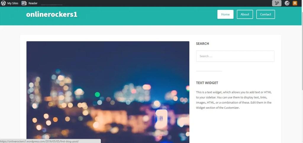 how to create a blog wordpress free