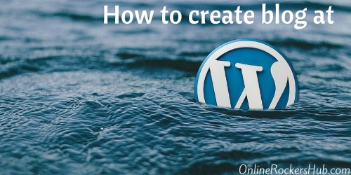 Creating free blog at Wordpress.com