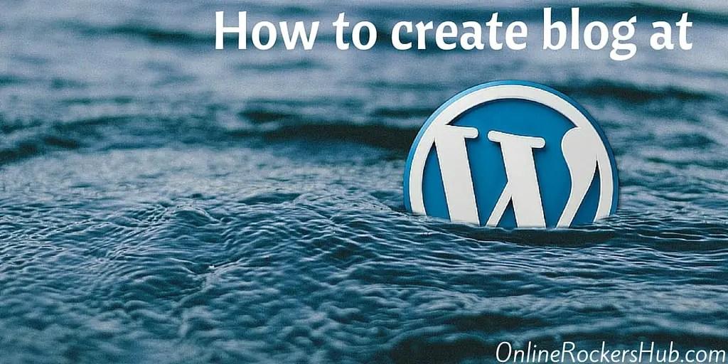 Creating free blog at Wordpress.com