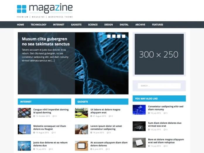 Free WordPress Magazine theme - MH Tech Magazine
