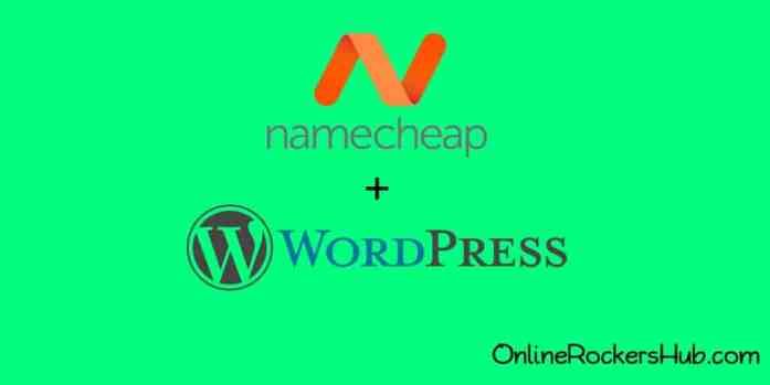 Install WordPress in Namecheap. Image created with Canva