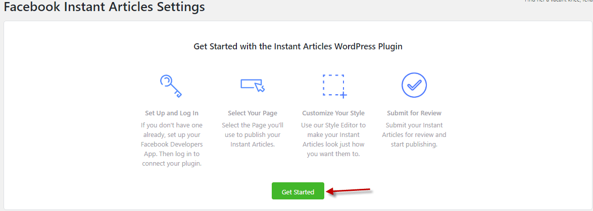 Get Started with Facebook instant articles plugin
