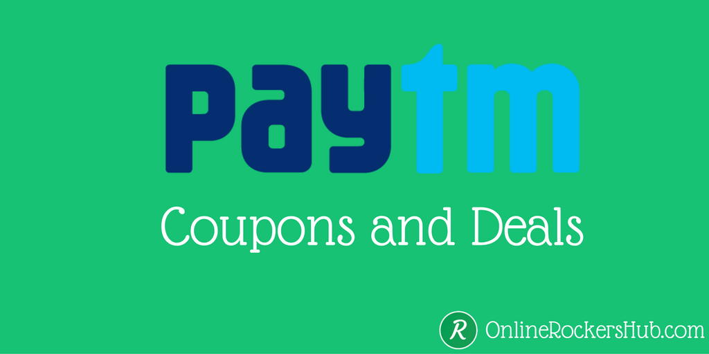 Enjoy discounts and cashback with Paytm coupons