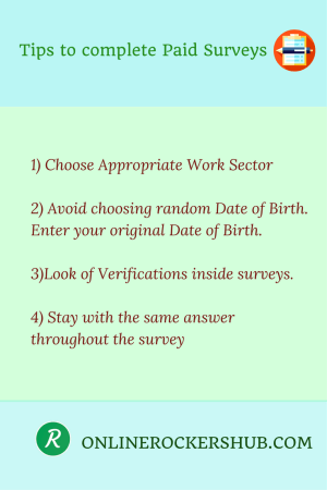 Tips to complete paid surveys