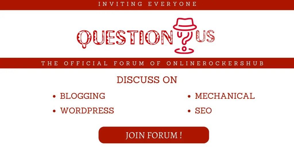 Inviting Readers for QuestionUs forum