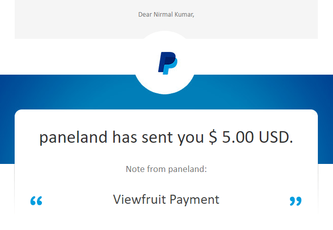 Viewfruit Payment Proof