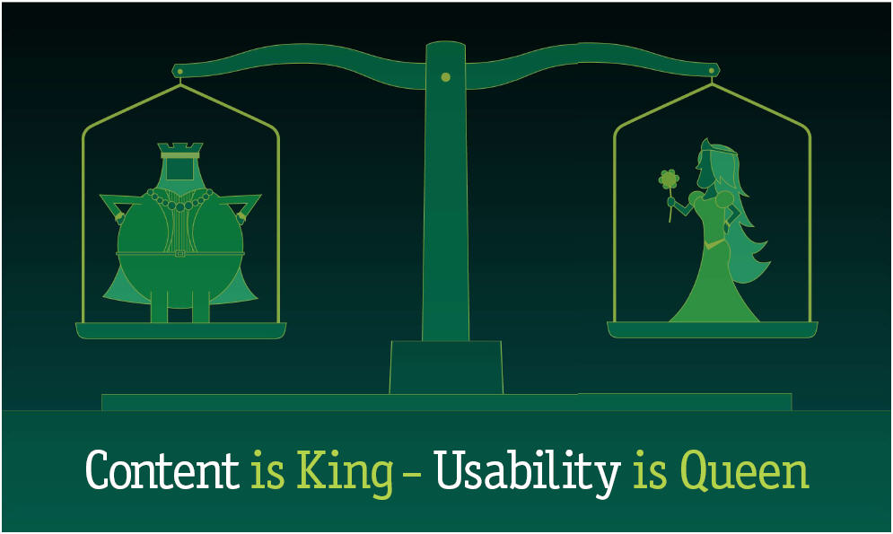 Content is King. Usability is Queen