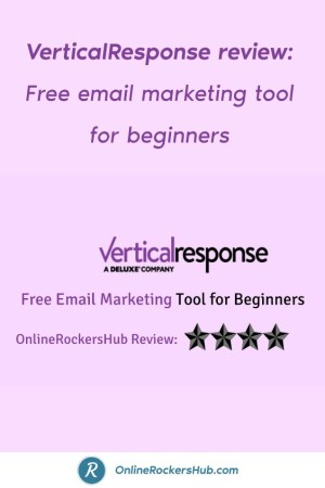 VerticalResponse review_ Free email marketing tool for beginners - Pinterest Image