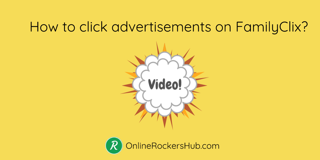 How to click advertisements in FamilyClix?