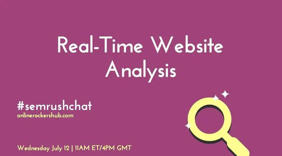SEMRush site audit on OnlineRockersHub - #SEMRushChat