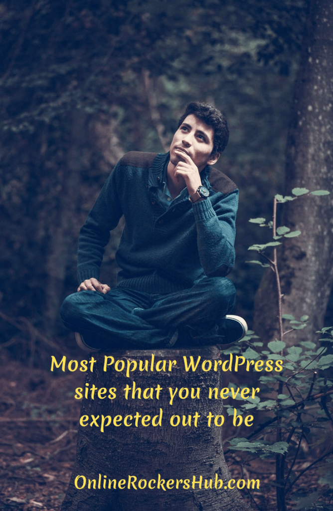 Most Popular WordPress sites that you never expected out to be