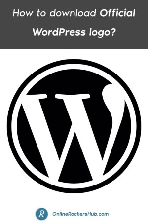 How to download Official WordPress logo_ - Pinterest Image