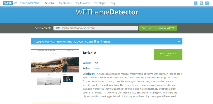 OnlineRockersHub Theme Detected by WPThemeDetector