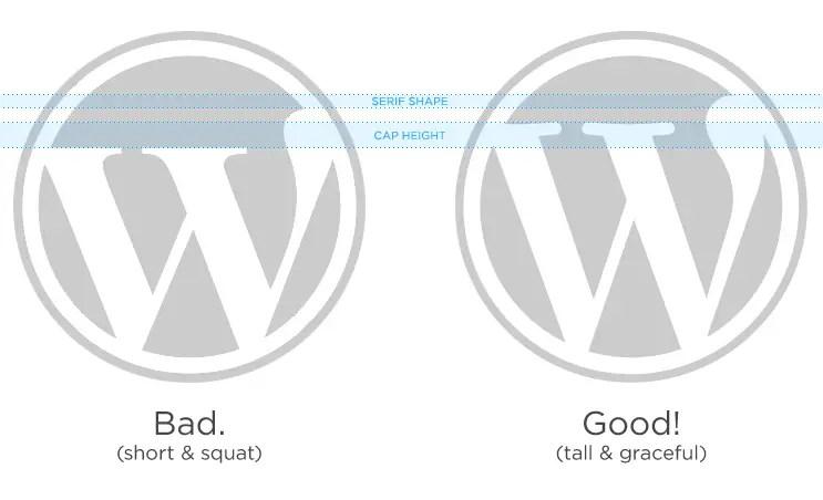 WordPress logo comparison