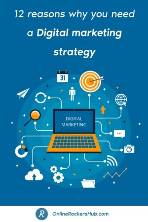 12 reasons why you need a digital marketing strategy - Pinterest Image
