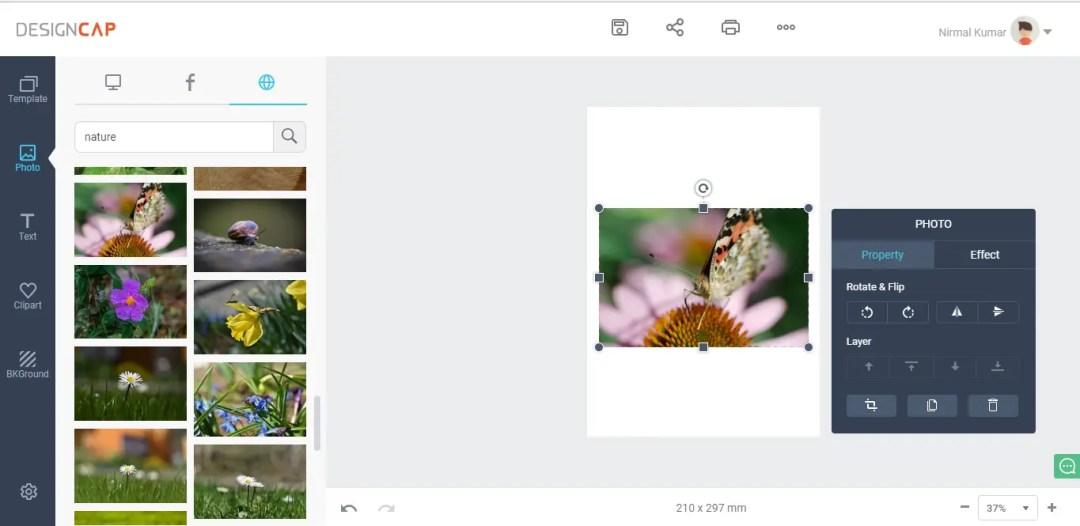 Photo Section at DesignCap