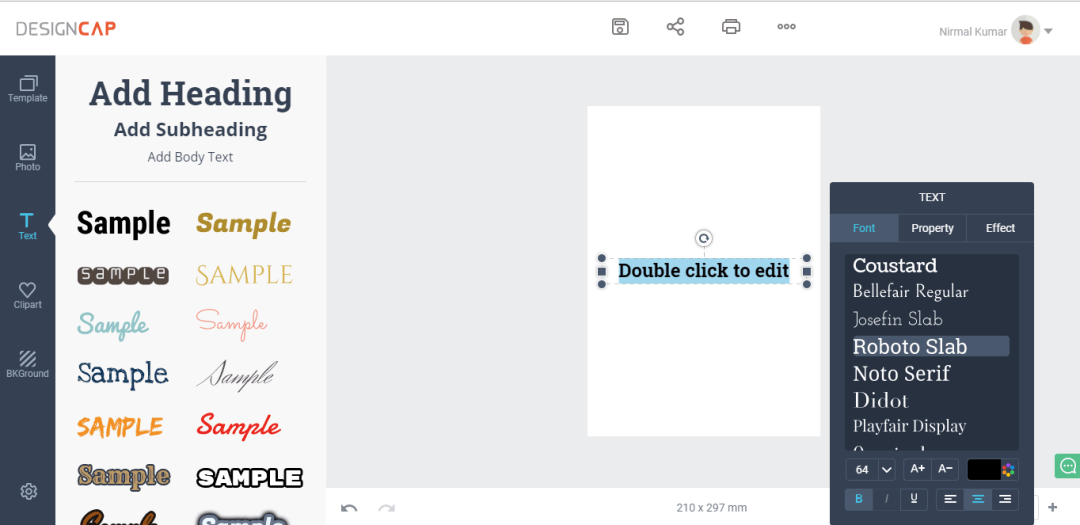 Text Section at DesignCap