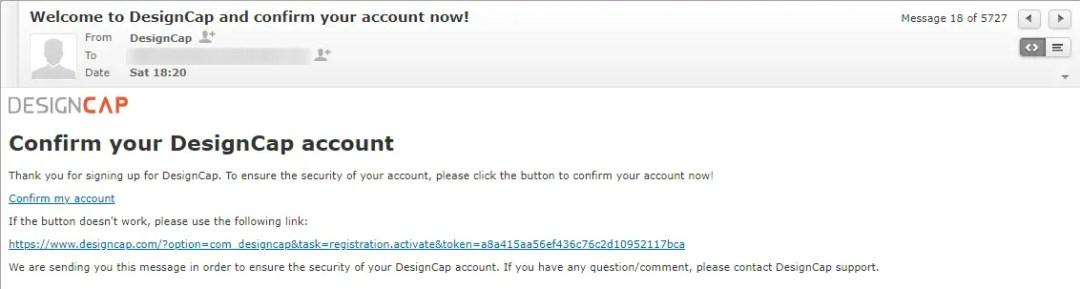 Verify Email Address at DesignCap