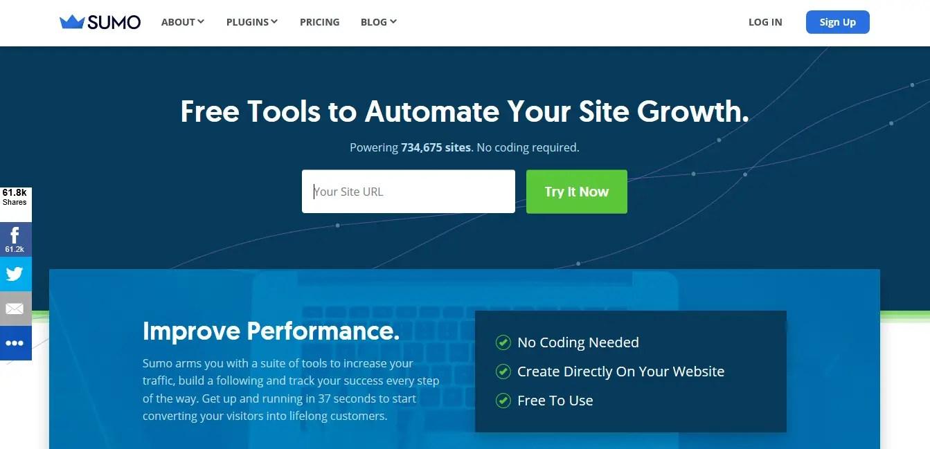 Sumo - The Best website traffic tools