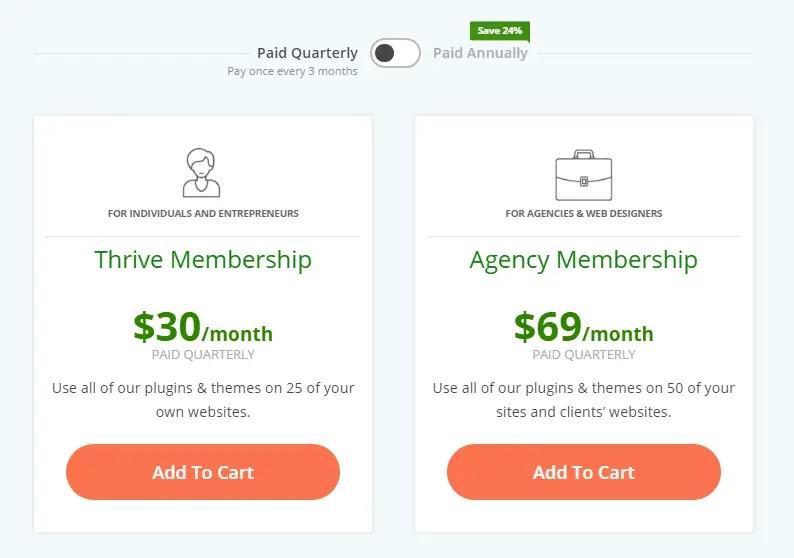 Thrive Quarterly membership starts at $30 per month