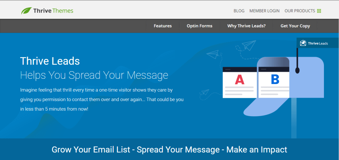 Thrive leads will help you grow your email list