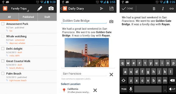 Blogger app for Android