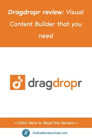 Dragdropr review_ Visual Content Builder that you need - Pinterest Image