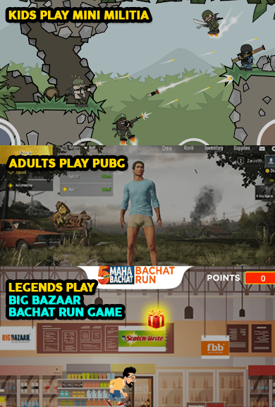 Big Bazaar Bachat Run Game meme
