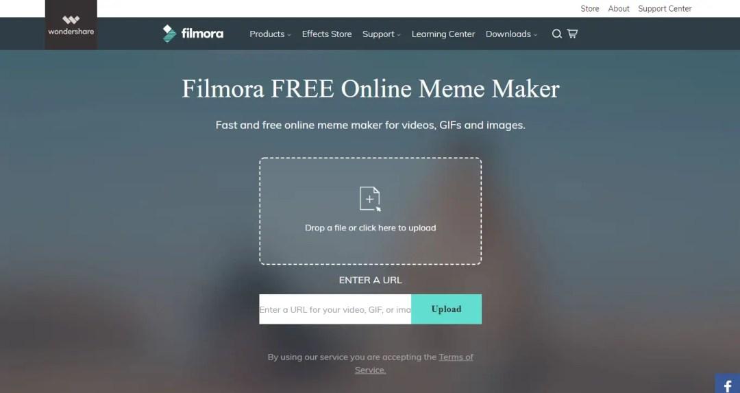 Filmora Wondershare Free Online Meme Maker