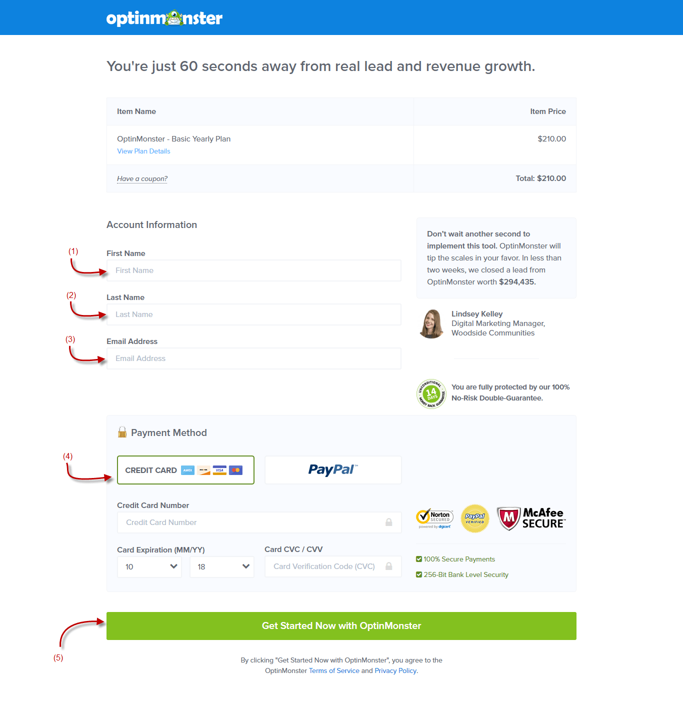 OptinMonster Payment Page