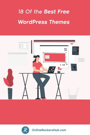 18 Of the Best Free WordPress Themes For 2019 - Pinterest Image