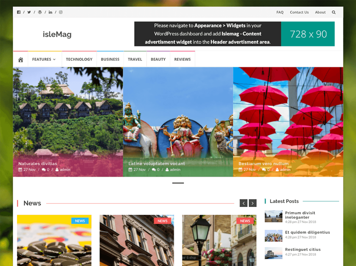 IsleMag WordPress Theme