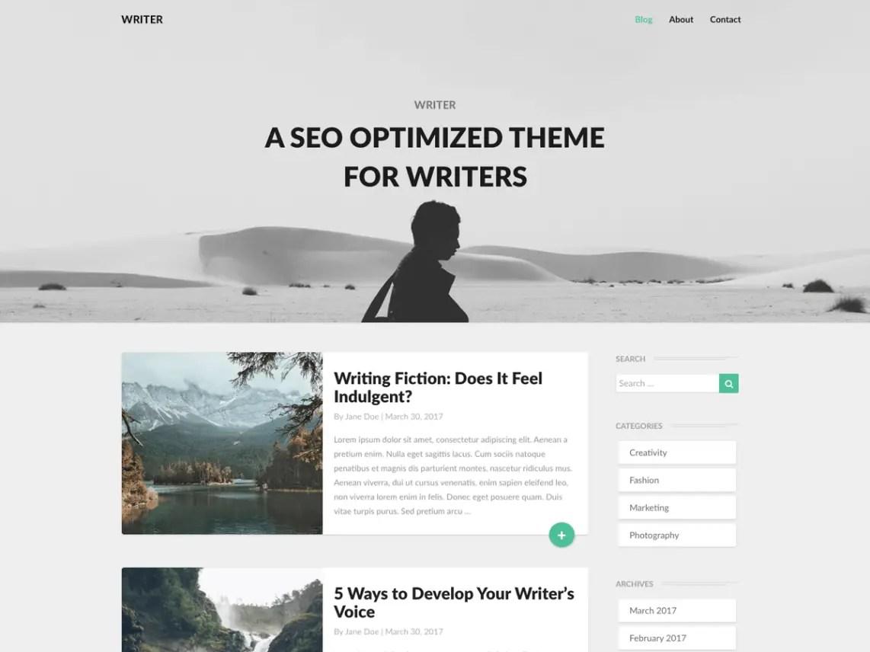 Writers WordPress Theme