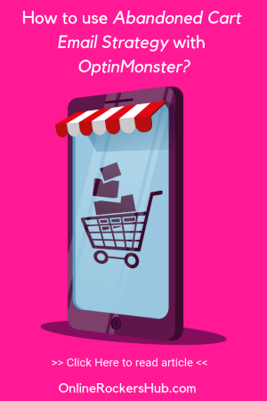 How to use Abandoned Cart Email Strategy with OptinMonster (Pinterest Image)