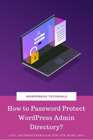 How To Password Protect WordPress Admin Directory - Pinterest Image