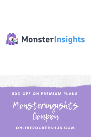 MonsterInsights Coupon - 50% Instant Discount on MonsterInsights Premium! - Pinterest Image