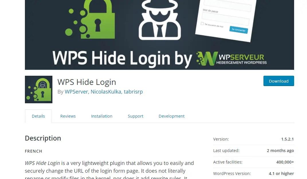 wps hide login plugin page