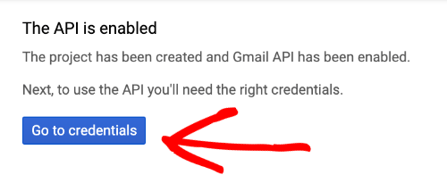 gmail api credentials