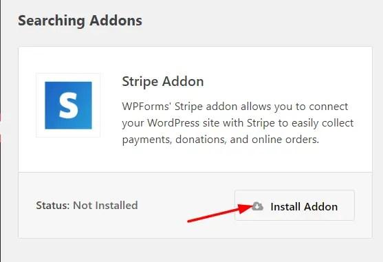 install stripe addon