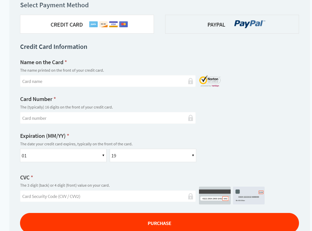 soliloquy payment methods