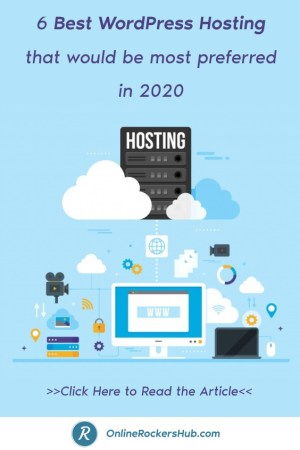 6 Best WordPress Hosting that would be most preferred in 2020 - Pinterest Image