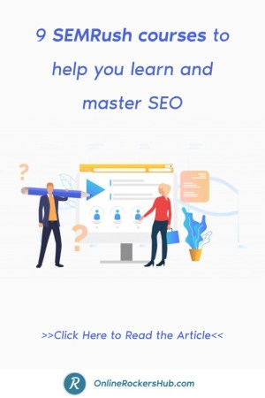 9 SEMRush courses to help you learn and master SEO - Pinterest Image
